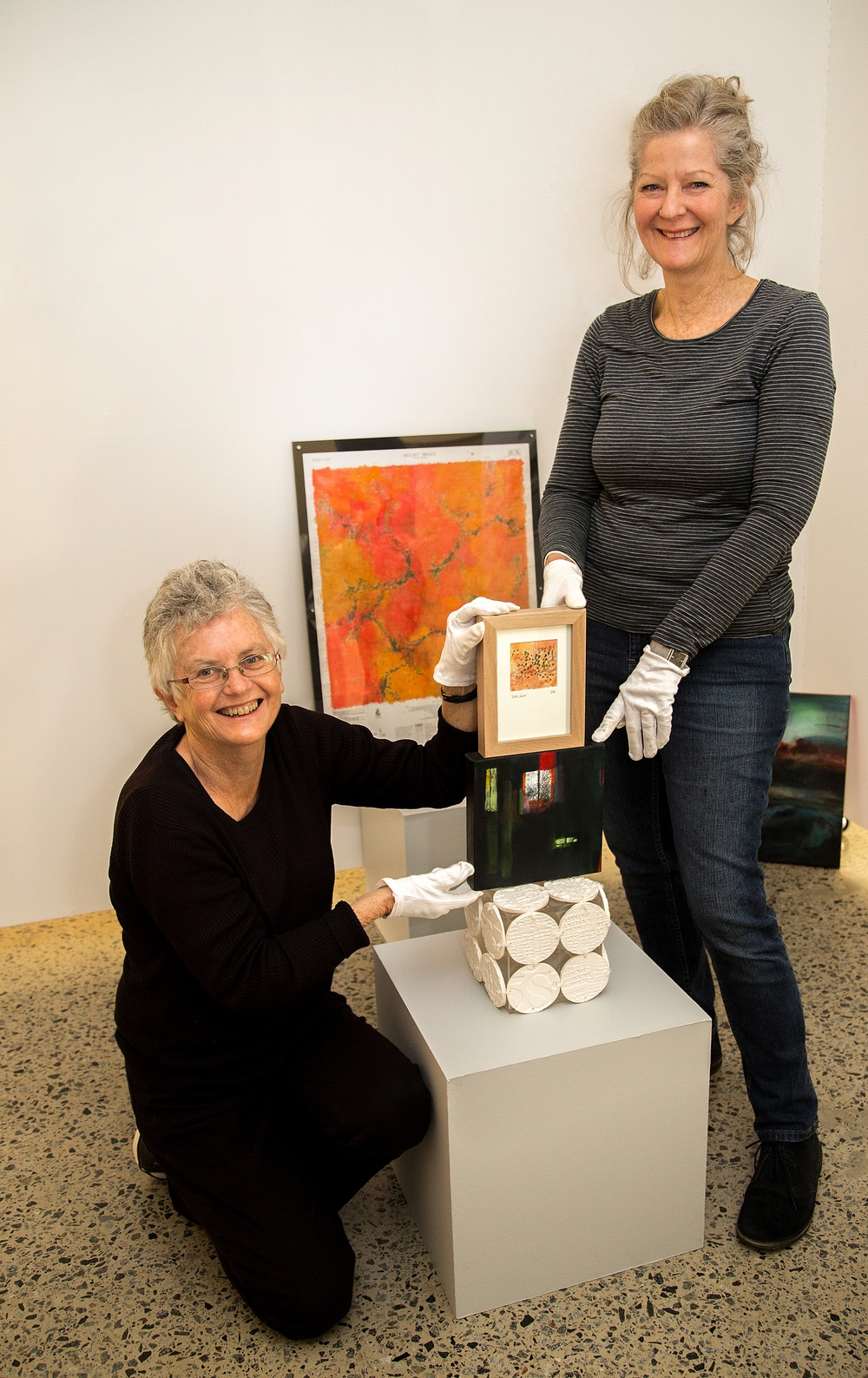 Artists Sue Grey-Smith and Patricia Hines are preparing to launch new exhibition Site Lines at CASM.