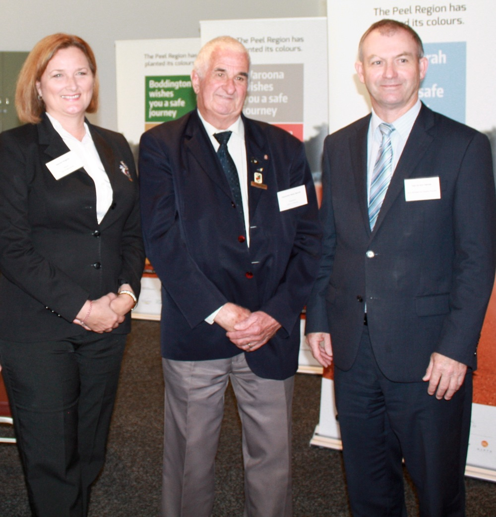 L-R Mandurah Mayor, Marina Vergone, Cr Wally Barrett, Shire President and Kim Hames MLA