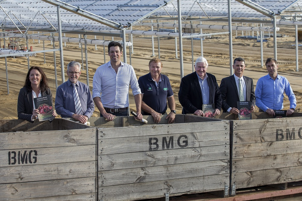 Pictured left to right are: Jane O'Malley, CEO of Peel Harvey Catchment Council; Brett Flugge, Executive Manager Strategic Development at Shire of Murray; John Shannon, CEO of Vegetables WA; Sam Calameri, Managing Director of Baldivis Farms; John Lynch, EO ofthe Peel Regional Leaders Forum; Norman Baker Acting CEO of Peel Development CommissionJohn Ruprecht, Executive Director of DAFWA