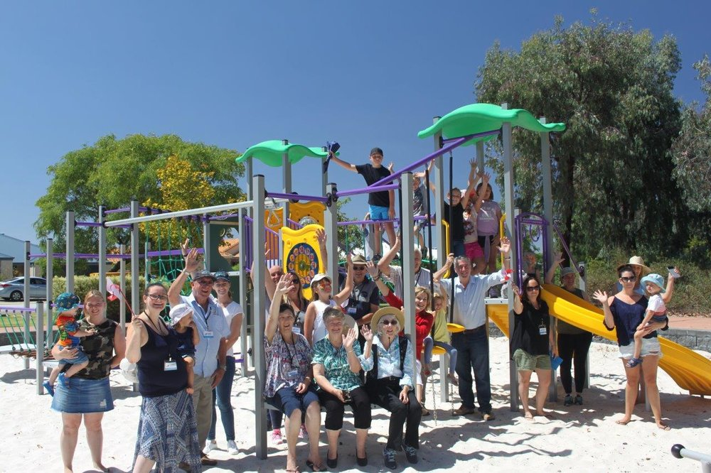 Ravenswood Residents enjoying their new playground