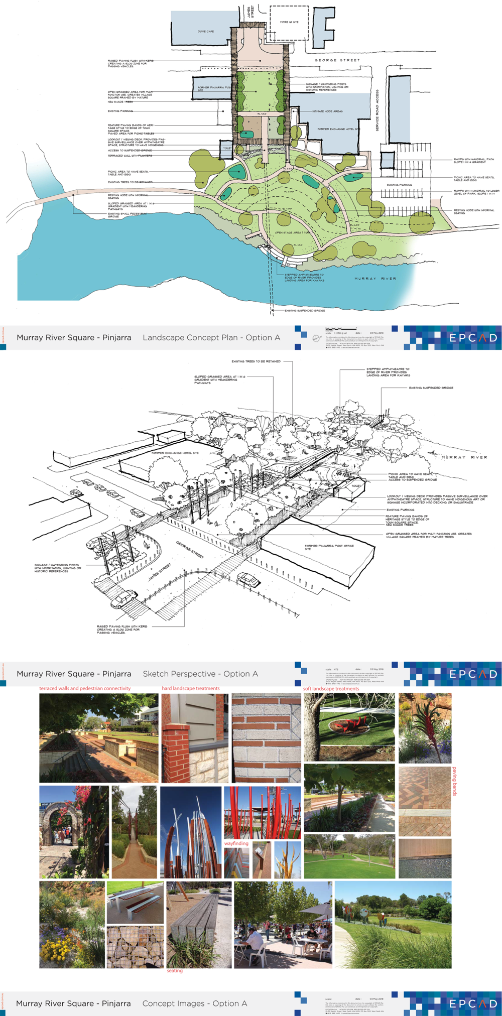 Murray River Site plan - perspective and images - Option A