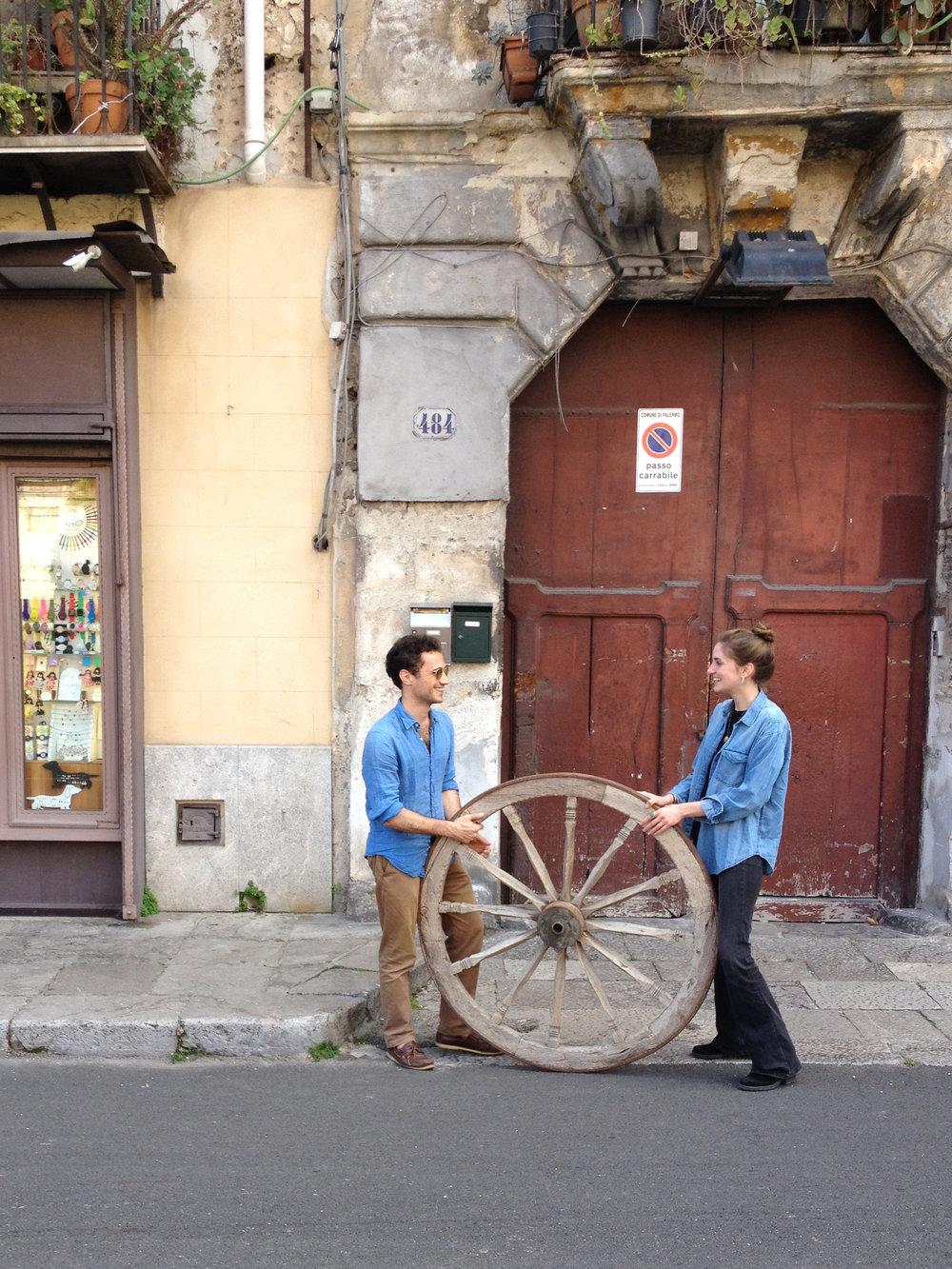 Midge Wattles, Italy