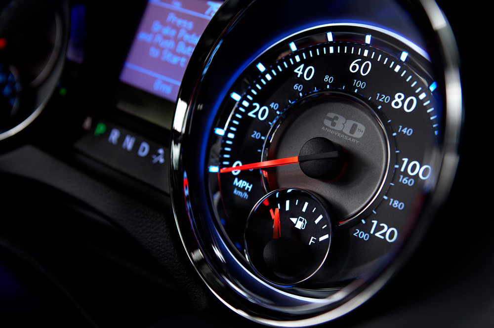 2014 Chrysler Town and Country 30th Anniversary gauge design