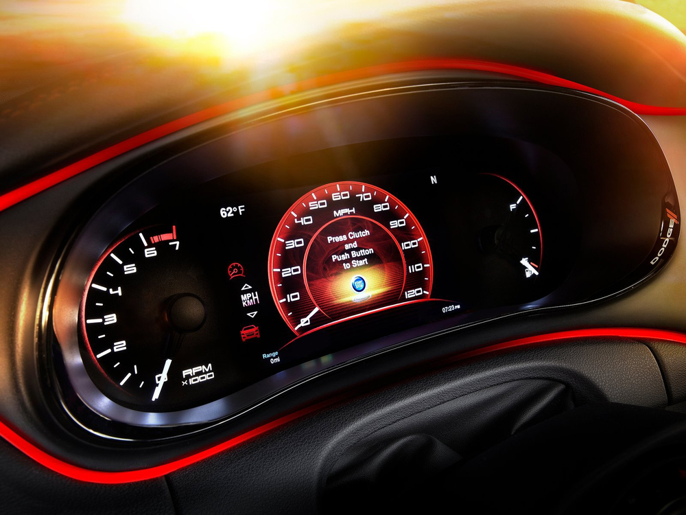 2012 Dodge Dart Premium gauge design