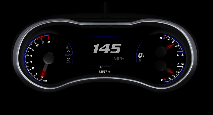 Jeep Grand Cherokee SRT8 digital gauge design