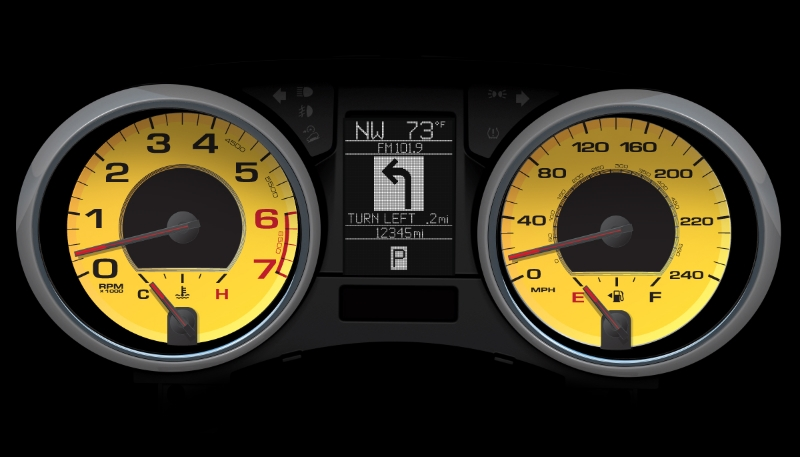 Jeep Grand Cherokee SRT8 Ferrari Special Edition gauges  for F1 drivers   Felipe Massa and Fernando Alonso