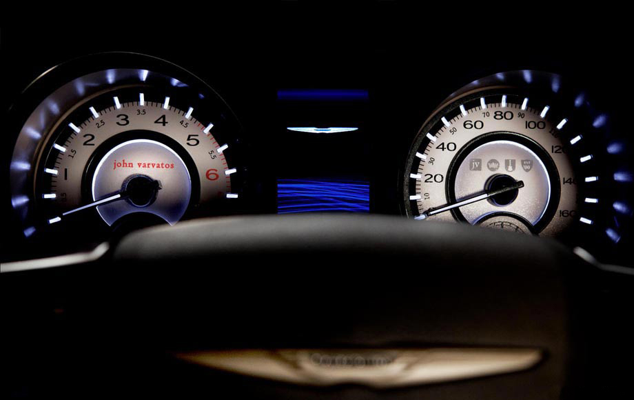 2013 Chrysler 300 John Varvatos Special Edition gauge design