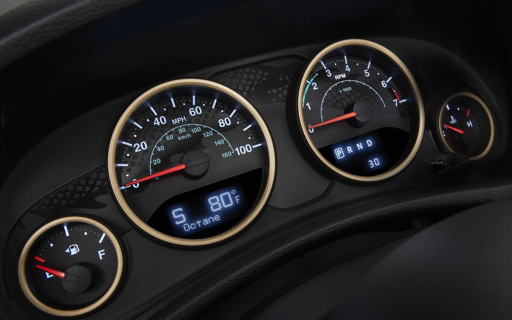 2014 Jeep Wrangler Dragon Edition gauge design