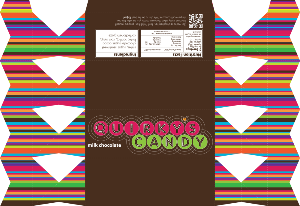 Quirky's Candy packaging proposal