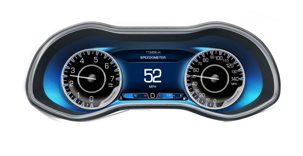 2014 Chrysler 200 gauge design