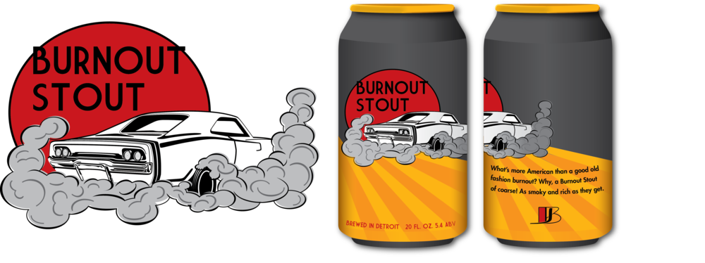 What's more American than a good old fashioned burnout? Why, a Burnout Stout, of course! This stout beer is full of smoky, rich flavors. - In progress