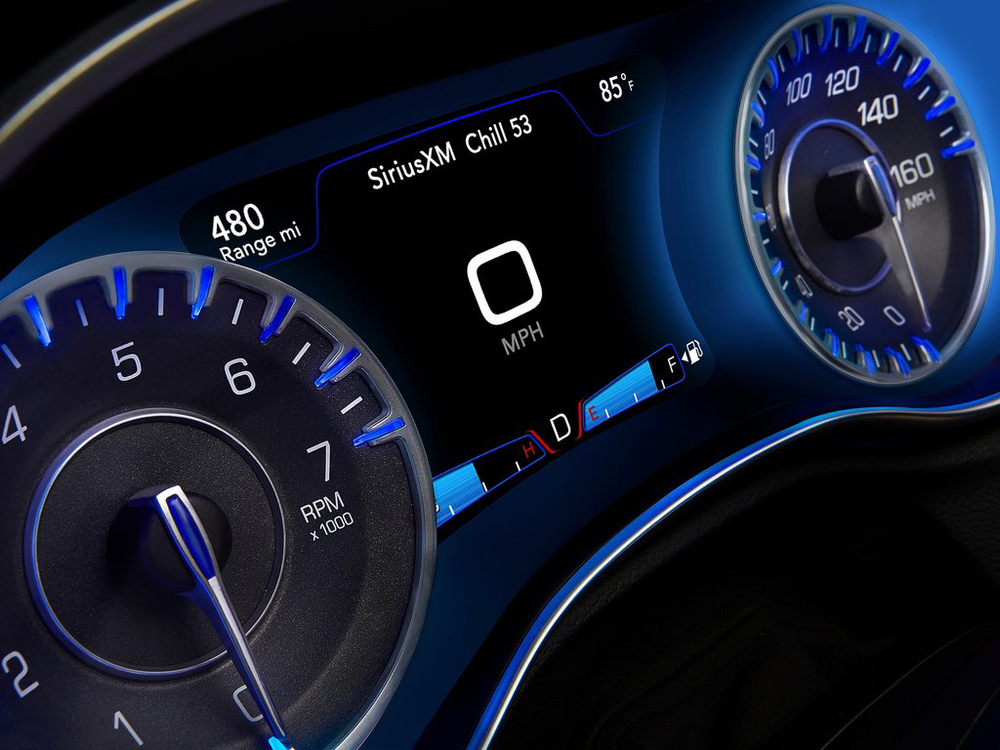 2015 Chrysler 300 gauge design