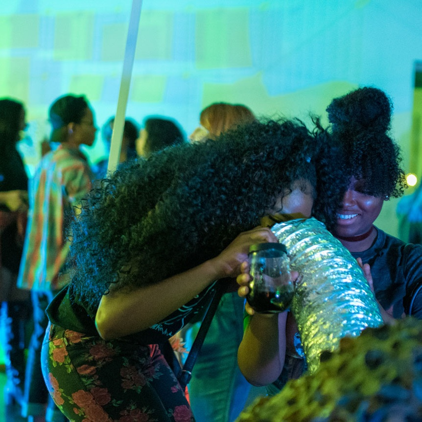 AHEAD OF OUR TIME POP-UP  - brought together a community of people together to fellowship, dance, and support local artists within Screwston, Texas.