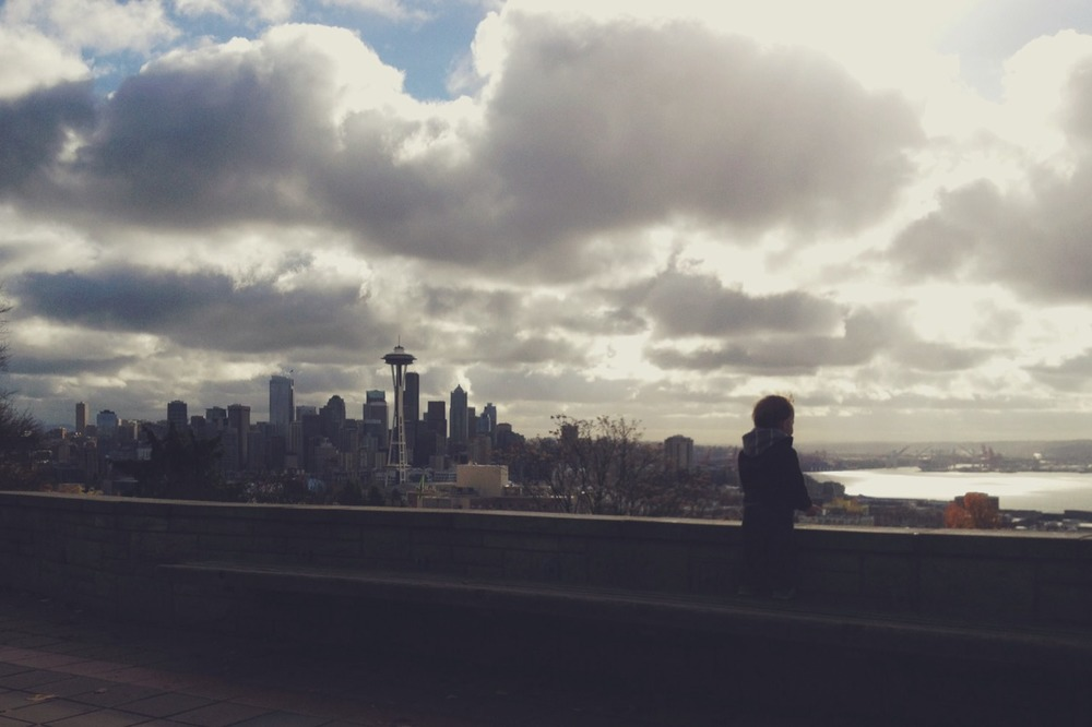 photo of my son D at Kerry Park