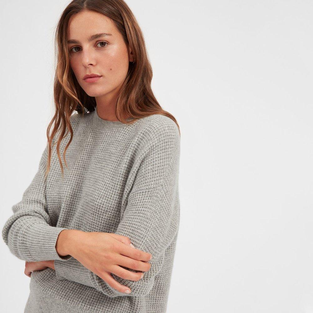 Everlane waffle knit sweater.jpg