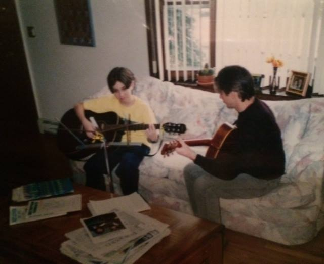 PGS Founder, Dan Levine and his first guitar teacher, Matt Lamborn, c. 1996