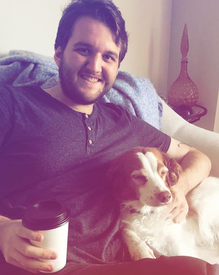 Me, an americano and a fancy pup.