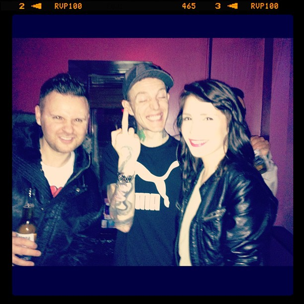Flipside, Anastasia & DEADMAU5 celebrating at the JUNOS