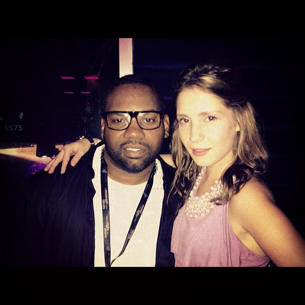 Anastasia & Raekwon @ Perez Hilton after party.