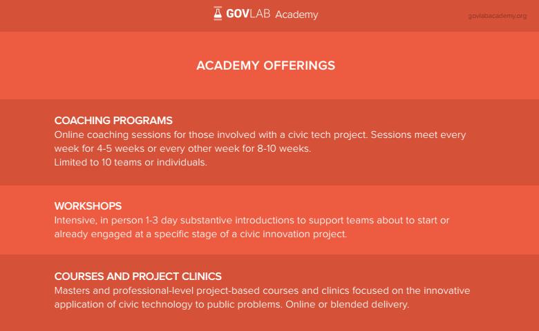 The GovLab Academy,http://thegovlabacademy.or