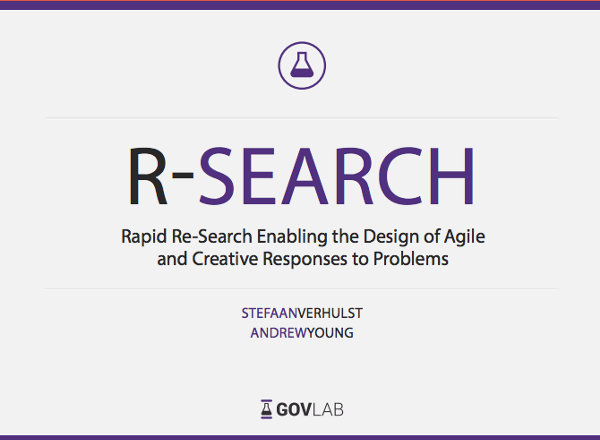 "The ""R-Search"" rapid research methodology encompasses the central components that, when leveraged, can enable researchers to develop, iterate and implement evidence-based solutions to public problems"