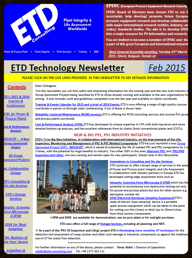 Click for Newsletter