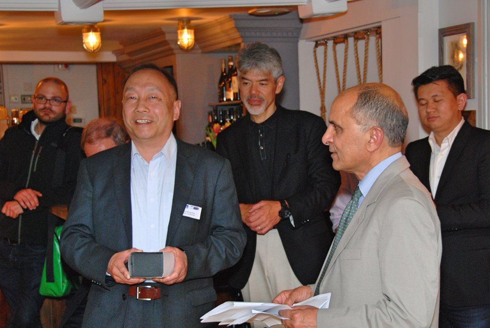 Award being presented to Prof. Zhifang Peng of Wuhan University, China