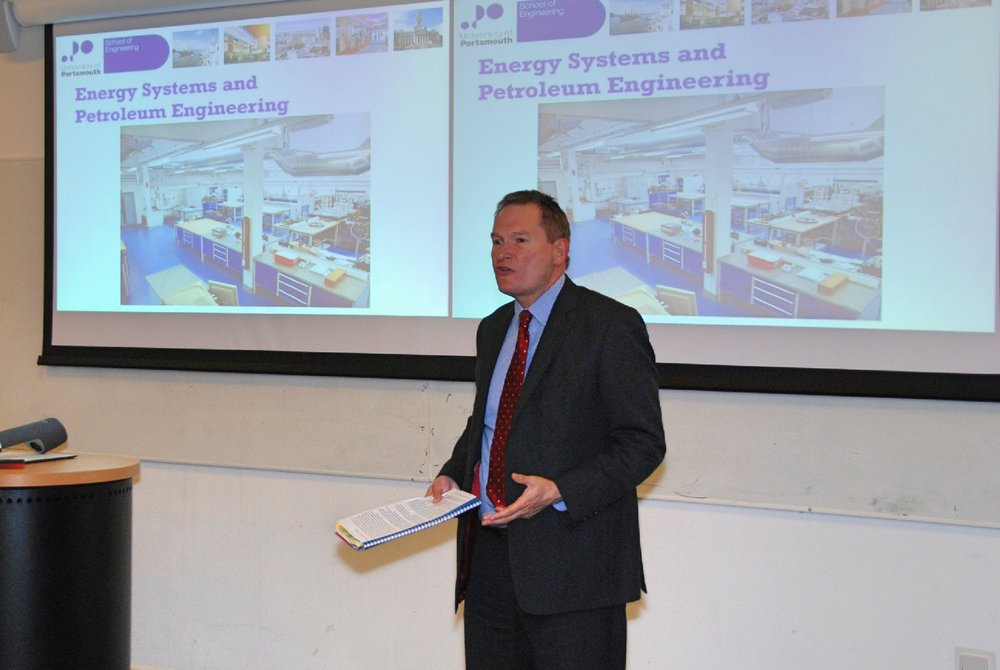 Prof. Graham Galbraith, Vice-Chancellor University of Portsmouth, addressing the Conference opening ceremony