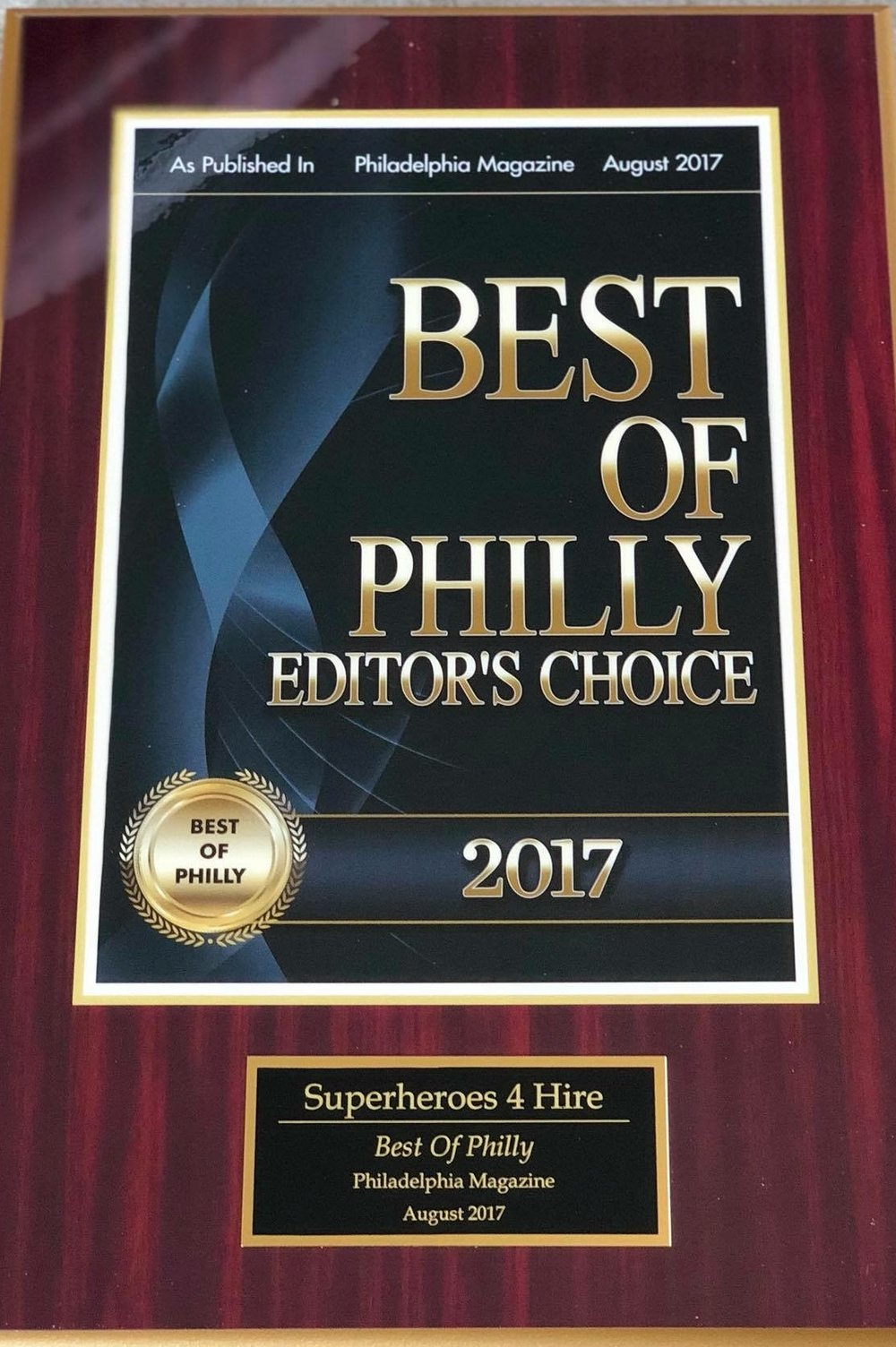 Big Thanks to the city of Philadelphia and Philadelphia Magazine! -
