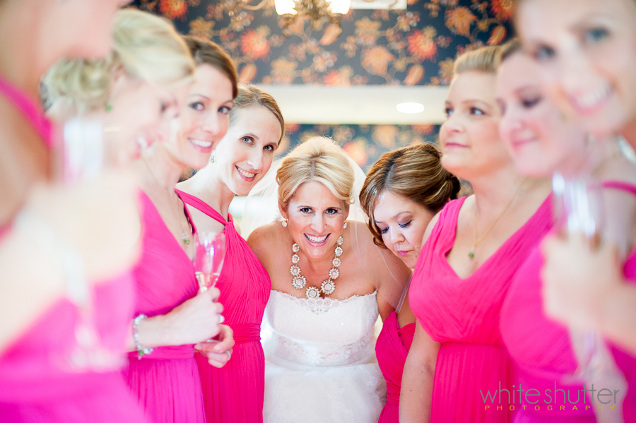 Kiefer Wedding, Bridesmaids wearing Wrap around Glam bracelets, Sparkle earrings and Fancy Chains