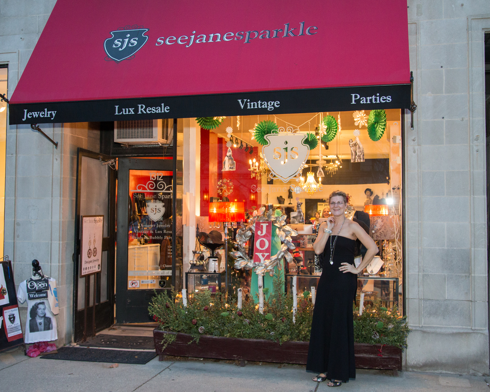 Stroll on by our Sidewalk, peruse the window and then of course check it out inside vintage, luxury resale and designer jewelry...ever changing