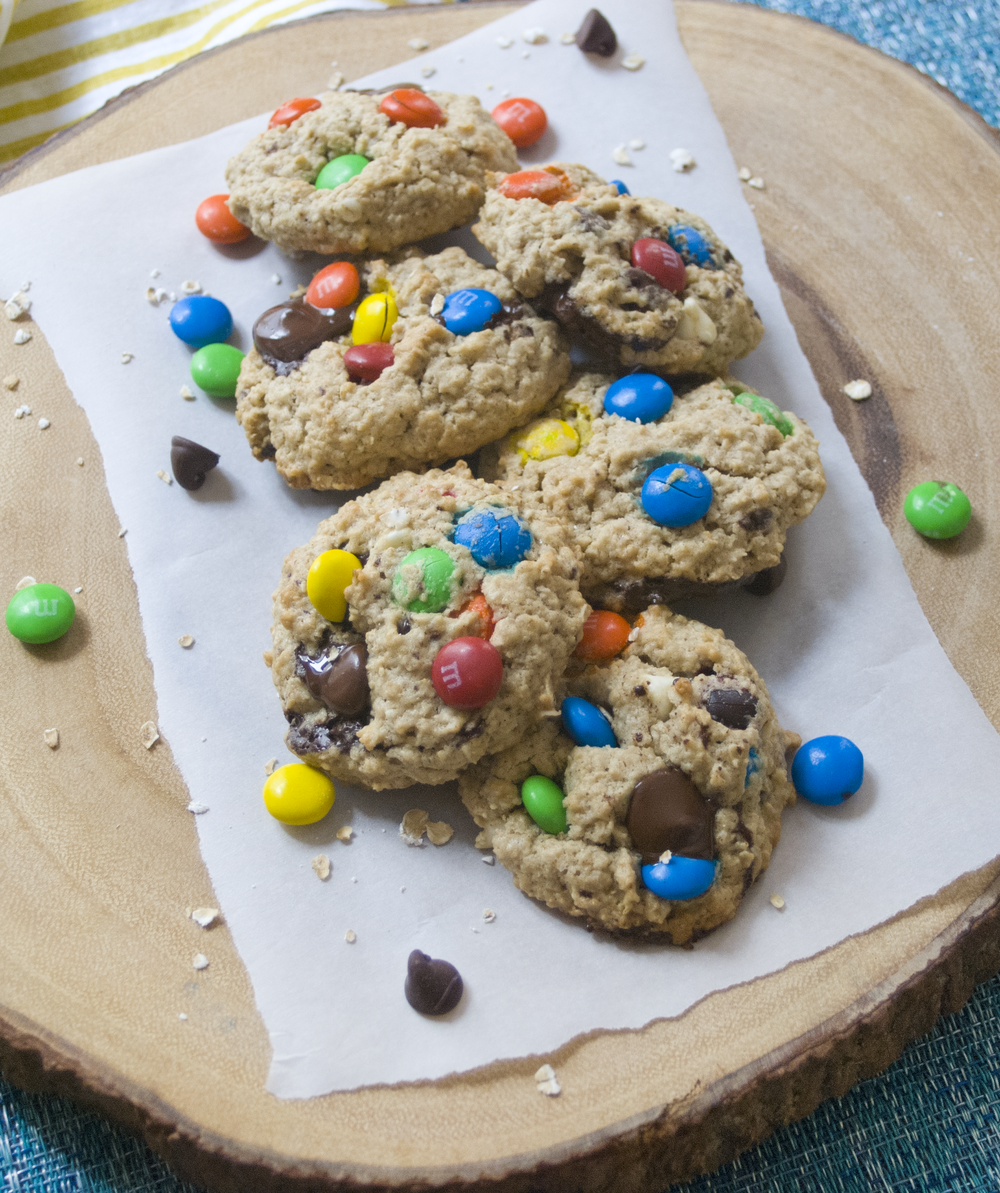 Oatmeal M&M Baked Cookies