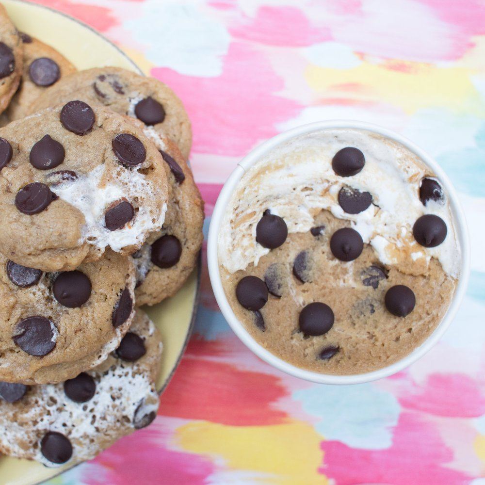 fluffernutter-cookies-edible-cookie-dough