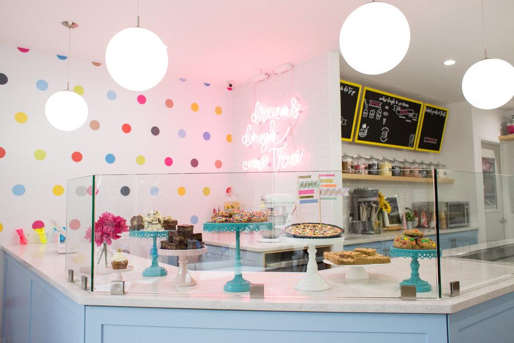 cookie dough shop entrance