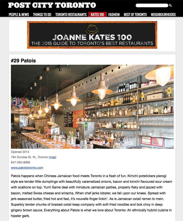 PostCity-JoanneKates-Top100-Toronto-Restaurant-Patois.jpg