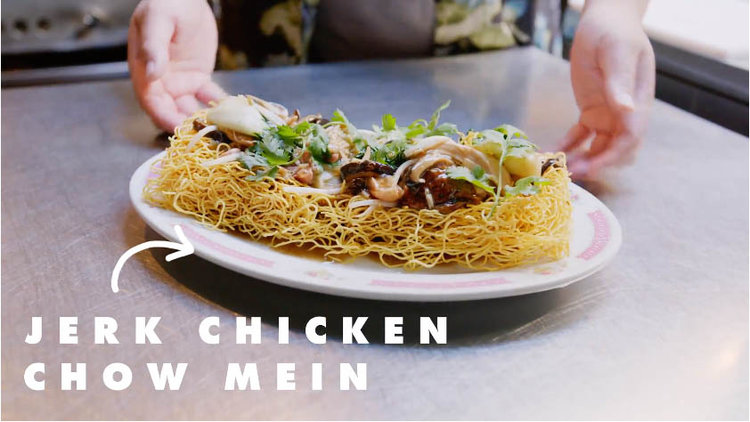 Click to Watch this video on The Scene    Chef Craig Wong is third generation Chinese-Jamaican. At his restaurant Patois, he cooks some of the best curries, doubles, and Chinese noodles in Toronto. Jerk chicken chow mein is his signature dish.