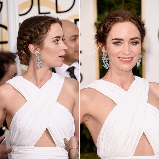 Emily Blunt looked like a Grecian princess