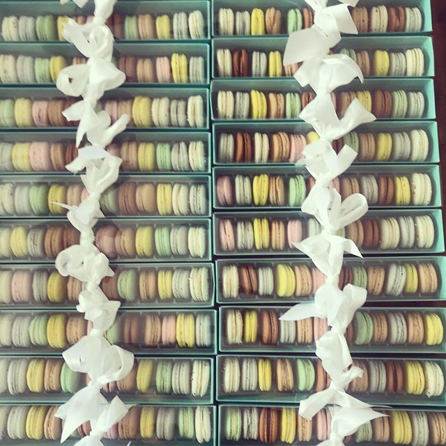 Who wouldn't love this as a gift! #macarons