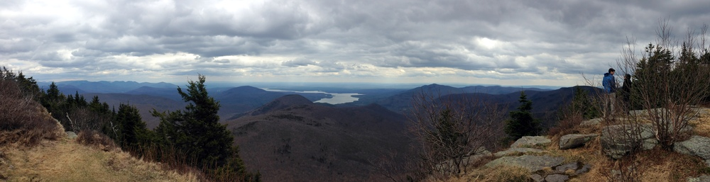 View from the summit of Wittenberg Mountain with the  Ashokan Reservoir  in the distance
