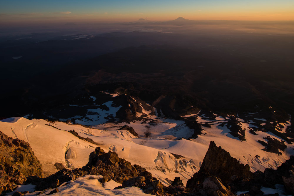 Sunrise from the Summit of Mt. Hood, Oregon, USA