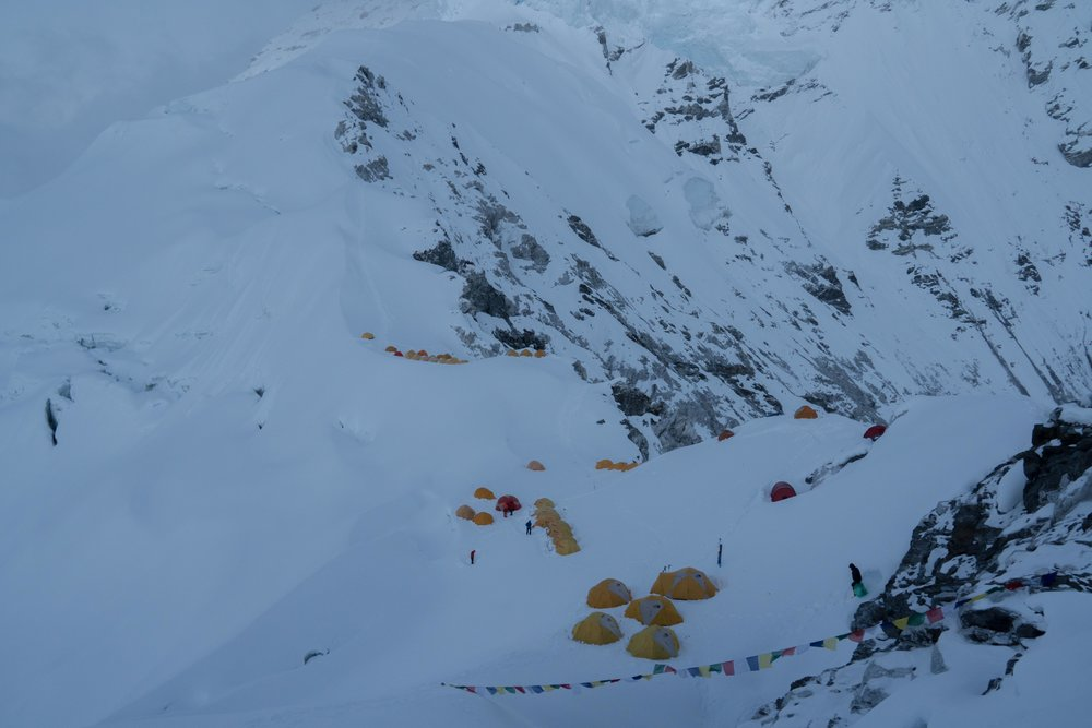 Camp I on Cho Oyu, Tibet - 21,019' (6,407m)
