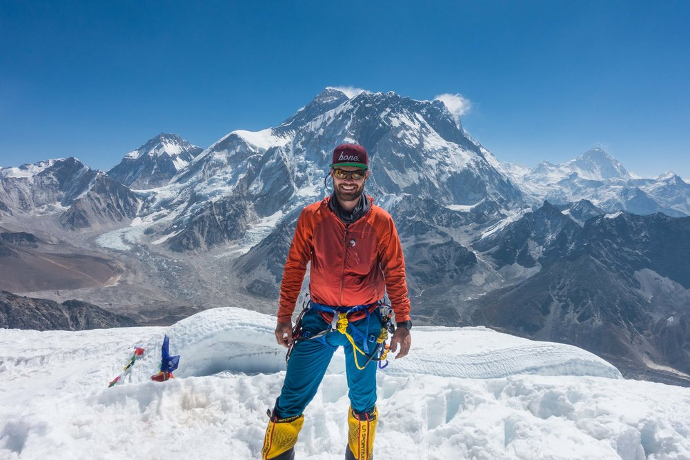 Me near the summit of Lobuche East