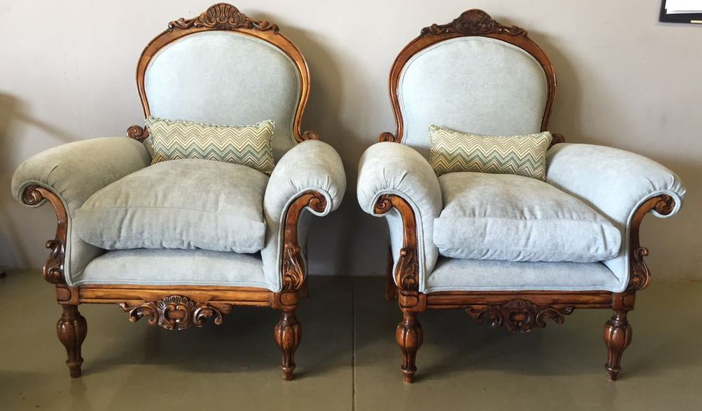 Re-upholstered Antique chair