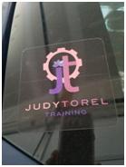 Judy Torel Training Car Stickers - $6