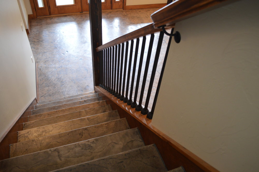 Custom stamped stair treads