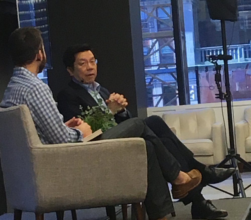 Dr. Kai-Fu Lee speaking about his new book,  AI Super-Powers China Silicon Valley and the New World Order , at www.Company.co October 5, 2018