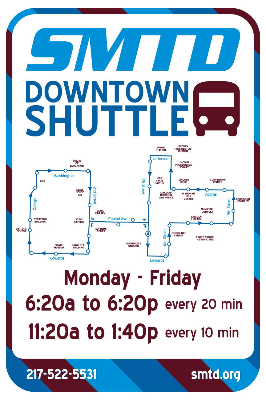 Look for the signs! - Downtown Shuttle stops will use special signage, making them easy to identify.