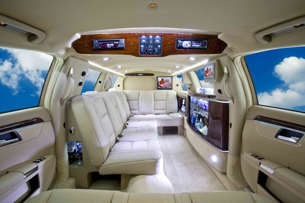 "Mercedes S550 Limousine shown with 100"" interior conversion."