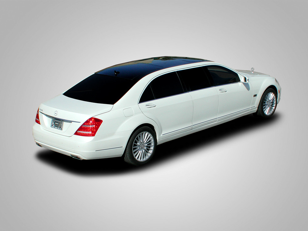"Mercedes S550 Limousine shown with 48"" conversion."