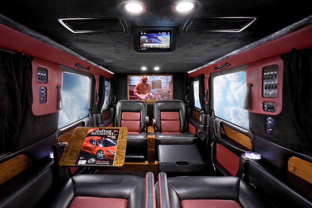 Mercedes G-Wagon Limousine shown with complete CEO conversion.